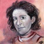 taf art,  Selbstporträt 2007, Gouache auf XL Leinwand, 40x40 cm (HxB)