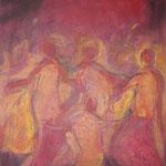 taf art, Debutante 2003, Mischtechnik - Collage/Gouache 80x60cm (HxB), Privatbesitz