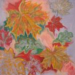 taf art, Herbststimmung I 2007, Gouache auf XL Leinwand 40x40 cm (HxB)