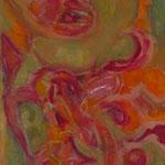 taf art, Organic Mischtechnik Gouache auf XL Leinwand 2004 120x50 (HxB), Privatbesitz