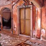taf art, Raixa Mallorca II 2008, Gouache auf XL Leinwand 80x60 cm (HxB)