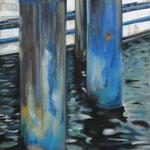 taf art, Boltenhagen blues  2012, Gouache auf Leinwand, 70x50cm (HxB)