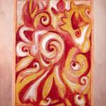 taf art, Intertwined I 2003, Gouache Mischtechnik auf XL Leinwand 150x120cm (HxB), Firmenbesitz