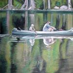 taf art, Reflections 2008, Gouache auf XL Leinwand 70x100 cm (HxB)