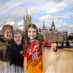 taf art, On the Thames, London 2008, Gouache auf XL Leinwand 100x80 cm (HxB)