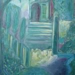 taf art, geheimer Garten 2003, Gouache auf Leinwand 100x80cm (HxB)