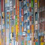 taf art, Ein Stueck freier Himmel 2008, Gouache auf XL Leinwand 110x150 cm (HxB)