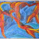 taf art, Der Tanz Mischtechnik auf Hartfaserplatte 2000  80x60cm (HxB), Privatbesitz