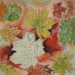 taf art, Herbststimmung III 2007, Gouache auf XL Leinwand 40x40 cm (HxB)