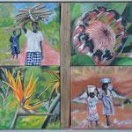 taf art, African patchwork  2012, Gouache auf Leinwand, 80x100cm (HxB)