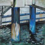 taf art, Boltenhagen blues  2012, Gouache auf Leinwand, 50x50cm (HxB)