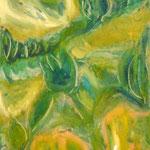 taf art, Green undergrowth Mischtechnik Gouache auf XL Leinwand 2004 120x50 (HxB), Praxisbesitz