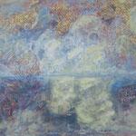 taf art, Meeresspiegelung Mischtechnik auf XL Leinwand 2002 100x120cm (HxB)