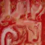 taf art, Summer eve Gouache auf Leinwand 100x80cm (HxB), Privatbesitz