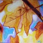 taf art, Herbstfreude I 2007, Gouache auf XL Leinwand 40x40 cm (HxB)