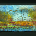 "Landscape west, spectrum art glass, 7"" x 14"""