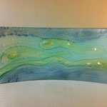 "Tray, float glass, oxides, 7""x16"""
