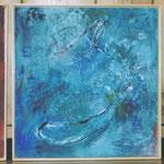 Liebe-Glaube-Hoffnung  2001;  Mischtechnik auf Holz;  ca. 40x40 cm
