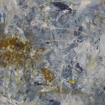 Eiszeit  2001;   Mischtechnik auf Leinwand; 100x80 cm