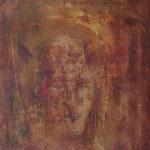 Geisterportrait  2003;  Gouache auf Leinwand; 60x80 cm  Privatbesitz