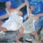 Nach Picasso 2001: Mischtechnik auf Papier; ca. 100x70 cm