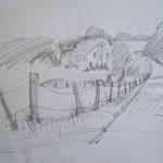 Achimer Marsch 2  2007;  Graphit auf Papier,  70x50 cm