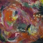 Rosengarten  2001; Gouache auf Leinwand; 100x80 cm