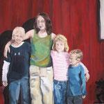 Schwedenkinder  2007; Gouache auf Leinwand;  100x70 cm  Privatbesitz
