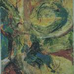 Der Traum  2002;  Mischtechnik auf Leinwand;  60x80 cm  Privatbesitz