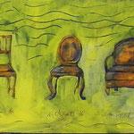 sit.down.rest   2010; Gouache auf Holzkörper;  50x30 cm