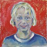 Carlotta 2007;  Gouache auf Leinwand;  50x50 cm  Privatbesitz