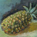 Ananas  2008;  Gouache auf Leinwand;  30x40 cm
