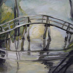 Brückenbogen2008;  Gouache auf Leinwand;  100x80 cm