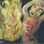 Der brennende Dornbusch  2002;  Gouache auf Leinwand;  80x60 cm