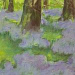 Waldstück  2007;  Gouache auf Leinwand;  100x70 cm