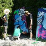 19.7.14 Graffitiworkshop mit den Bunten e.V.