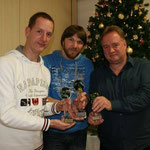 Gesamtwertung 2012 - 1. Rene Seibicke, 2. Bernd Metschke u. 3. Dirk Lenz