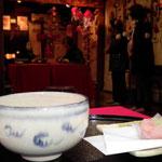 2月11日・3月1日末広亭にてお抹茶と和菓子のおもてなし