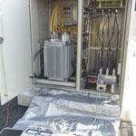 高圧ケーブルを含むキュービクル高圧機器の絶縁耐力試験  竣工検査です