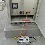 過電流継電器試験。 無停電年次点検のため、活線状態での単体試験です。