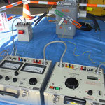 気中開閉器の絶縁耐力試験  使用前の竣工検査のひとつです