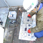 高圧ケーブルの絶縁耐力試験