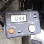 高圧漏れ電流 4.4mAを表示しています。