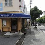 ⑨踏み切りの角に喫茶店がありますので南へ左折します