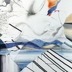"""plensa überall""  80 cm x 120 cm Acryl auf Leinwand"