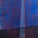 Druckgrafik auf Bütten, Rahmen 50 cm x 60 cm