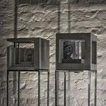 CP_Cubes - Beton/Fotografie   mit Sockel ca.  190cm hoch, 30 cm x 30 cm