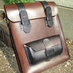 A4 satchel, handmade with full grain leather and half lined.