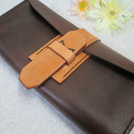 Kobe Beefy, handmade purse. Strap made from veg tannned leather.