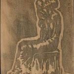 23 Mère assise et enfant, bois, 1er état